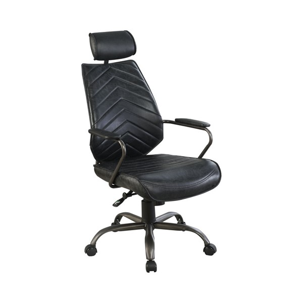 Coaster Furniture Grain Leather Headrest Office Chairs CST-80218-OF-CH-VAR