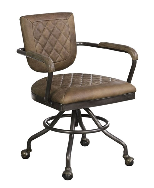 Coaster Furniture Antique Brown Grain Leather Office Chair CST-802185