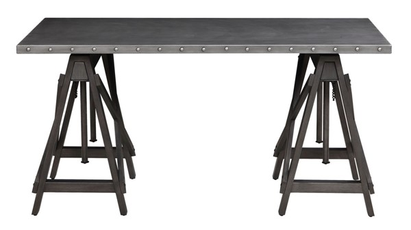 Coaster Furniture Grey MDF Adjustable Desk CST-802241
