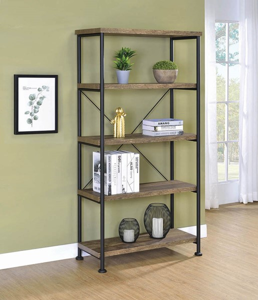 Coaster Furniture Analiese Rustic Oak Bookcase CST-802543