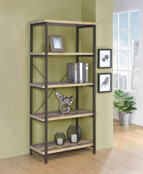 Coaster Furniture Weathered Pine Bookcase CST-802552