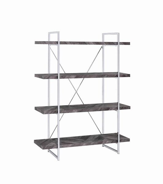Coaster Furniture Grimma Rustic Grey Bookcase CST-802613