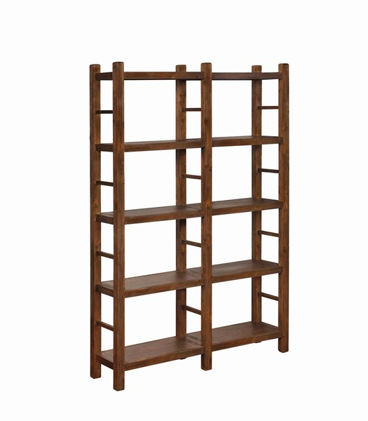 Coaster Furniture Kennesaw Country Brown Double Bookcase CST-802783