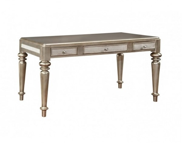Metallic Platinum Mirror Wood Writing Desk CST-804187
