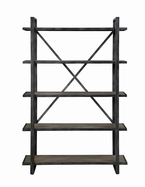 Coaster Furniture Henderson Weathered Elm Bookcase CST-804223
