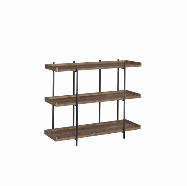 Coaster Furniture Lawtey Aged Walnut Three Shelves Bookcase CST-804293