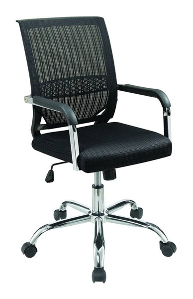 Coaster Furniture Black Mesh Chrome Adjustable Height Office Chair CST-881055