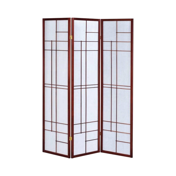 Coaster Furniture Cherry Wood 3 Panel Folding Screen Room Divider CST-900110