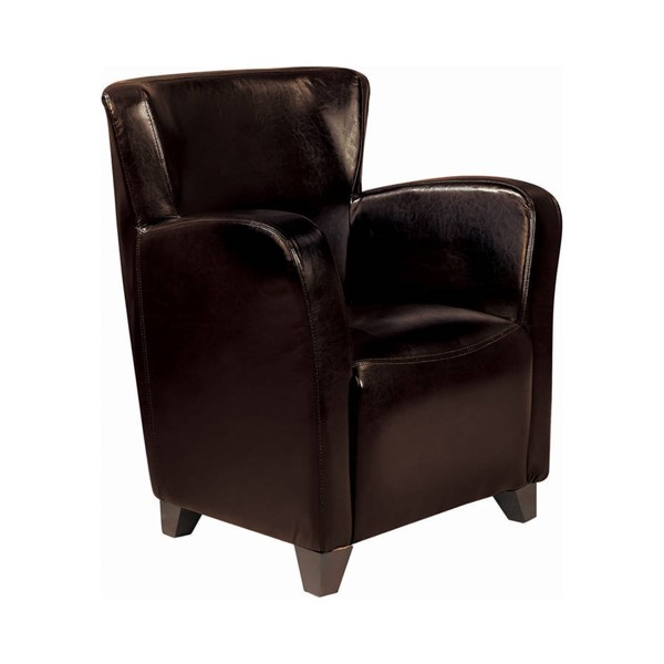Coaster Furniture Dark Brown Faux Leather Chair CST-900234