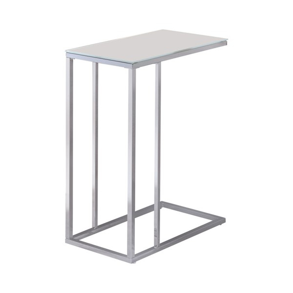 Coaster Furniture White Glass Top Snack Table CST-900250