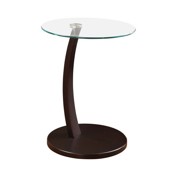 Coaster Furniture Cappuccino Glass Top Accent Table CST-900256