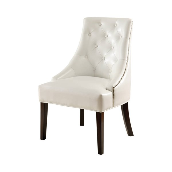 Coaster Furniture White Button Tufted Accent Chair CST-900283
