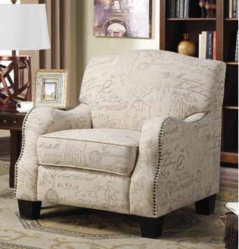 Fantastic Cream Grey Print Fabric Accent Chair W Curved Arms Ibusinesslaw Wood Chair Design Ideas Ibusinesslaworg