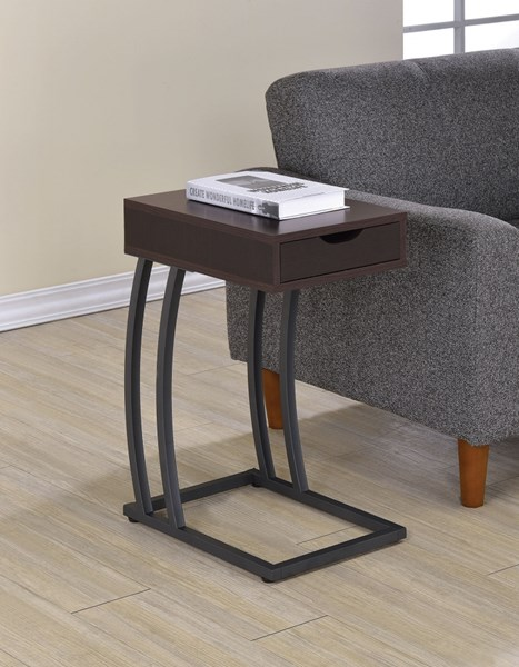 Coaster Furniture Cappuccino Accent Table with Power Strip CST-900578
