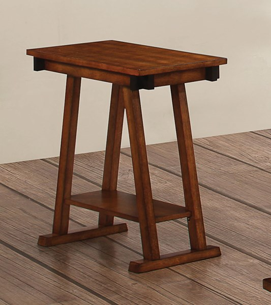 Dark Amber Coffee Bean Wood Accent Table CST-900625