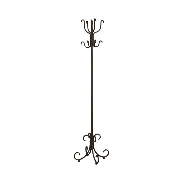 Coaster Furniture Sandy Black Metal Coat Rack with Curved Feet CST-900863