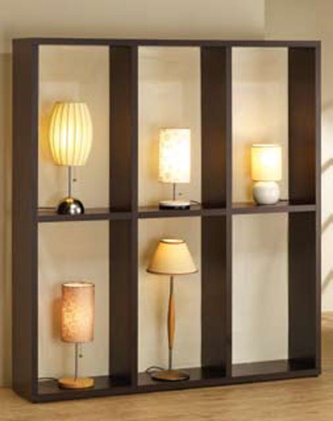 Wood Lamp Display ( L 62 X W 11.5 X H 69.25 ) CST-900900