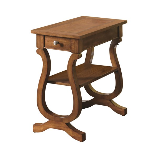 Coaster Furniture Cherry Rectangle Chairside Table CST-900975