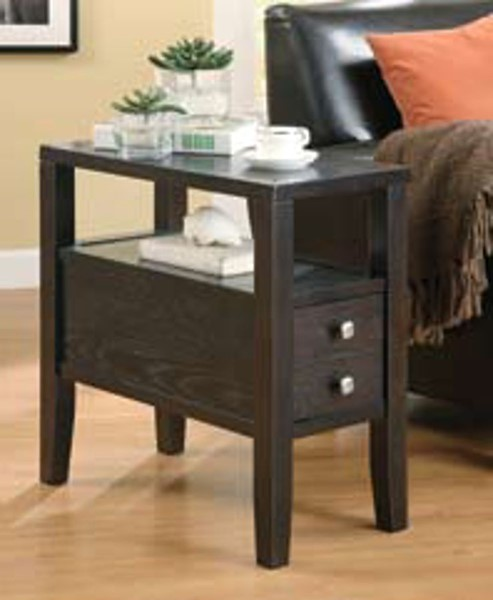 Cappuccino Wood Rectangle Chairside Table CST-900991