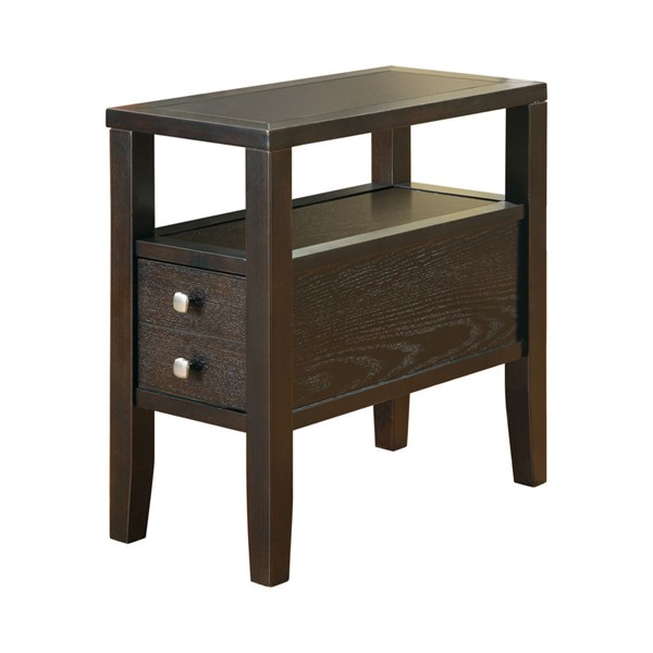 Coaster Furniture Cappuccino Rectangle Chairside Table CST-900991