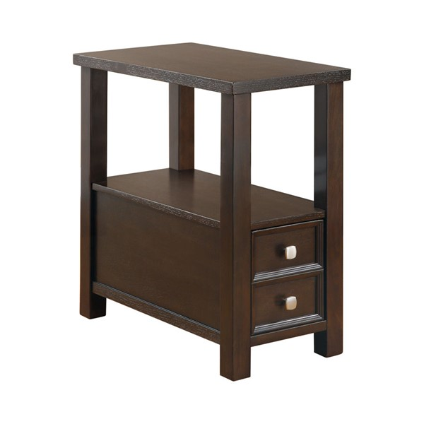 Coaster Furniture Cappuccino Wood Rectangle Chairside Table CST-900992