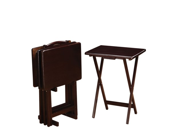 Casual Cappuccino Wood Rectangle Tray Table CST-901081