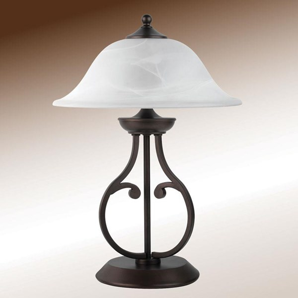 Traditional Bronze Metal Shade Table Lamp CST-901207