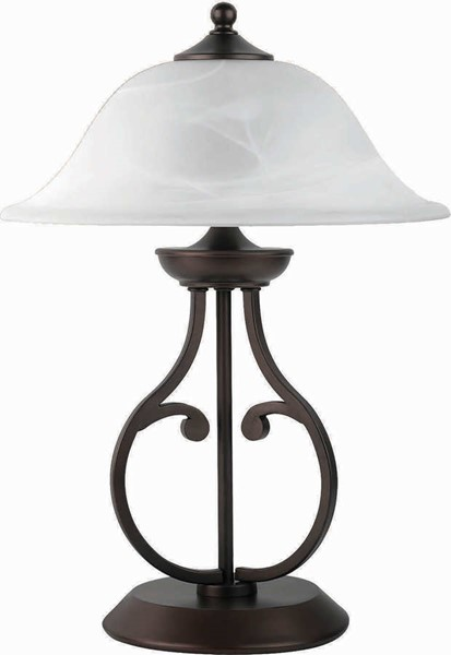 Coaster Furniture Bronze Glass Shade Table Lamp CST-901207