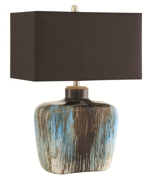 Transitional Black Fabric Table Lamp CST-901246