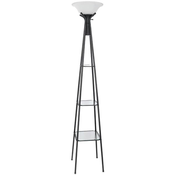 Coaster Furniture Charcoal Black Glass Shade Floor Lamp CST-901420
