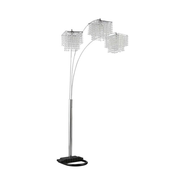 Coaster Furniture 3 Way Poly Crystal Floor Lamp CST-901484