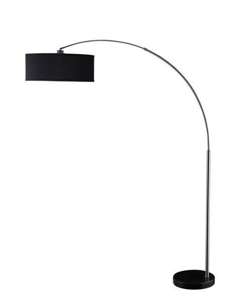 Contemporary Chrome Metal Shade Floor Lamp CST-901486