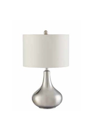 Transitional Silver White Ivory Table Lamp CST-901525
