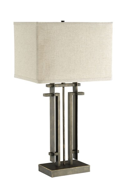 Coaster Furniture Black Rectangle Table Lamp with 100 Watts Max Bulb CST-901654