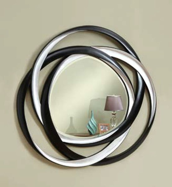 Contemporary Black Metal Glass Mirror ( W 51 X H 2 ) CST-901734