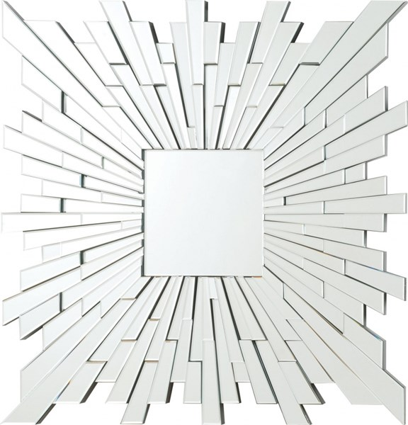 Contemporary Silver Glass Frameless Square Mirror CST-901785
