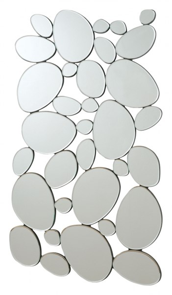Contemporary Silver Glass Frameless Wall Mirror CST-901791