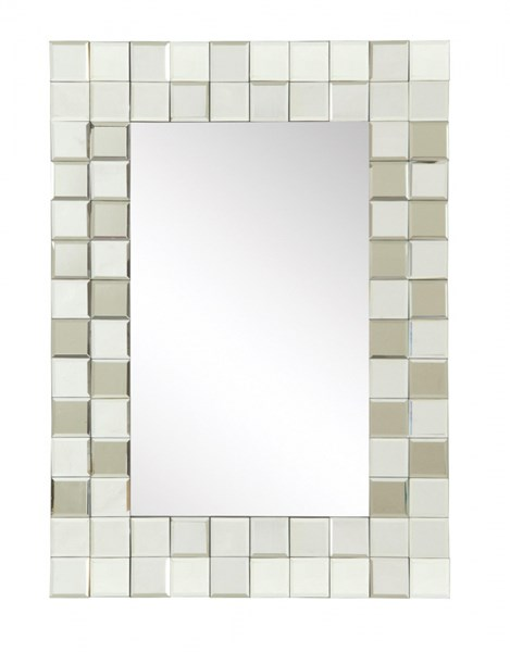 Contemporary Glass Frameless Rectangle Mirror CST-901815