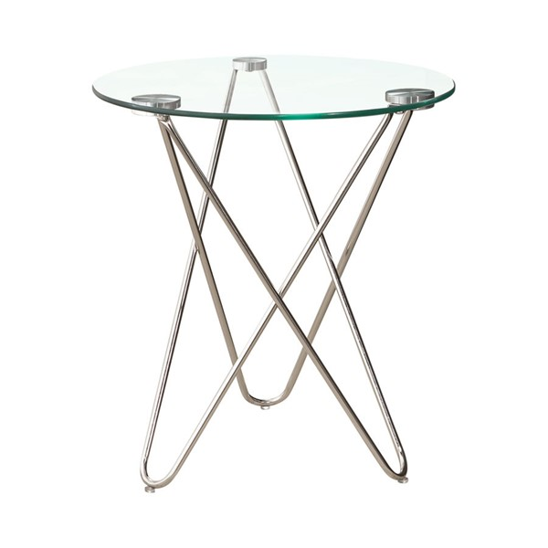 Chrome Gl Round Accent Table