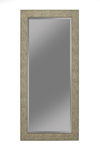 Green Gold Foil Raised Mosaic Inspired Design 66 Inch Height Mirror CST-901995