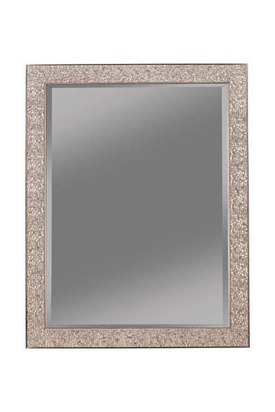Silver Black Raised Mosaic Inspired Design Mirrors CST-90199-MR-VAR