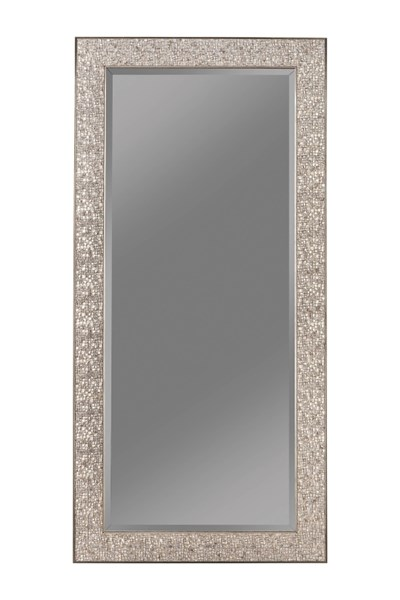 Silver Sparkle Raised Mosaic Inspired Design 66 Inch Height Mirror CST-901997