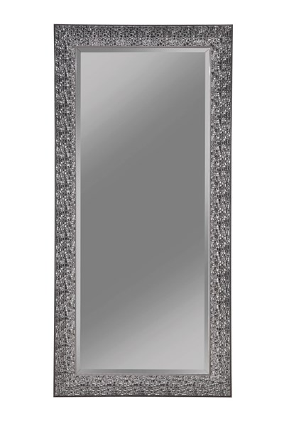 Black Raised Mosaic Inspired Design 66 Inch Height Mirror CST-901999