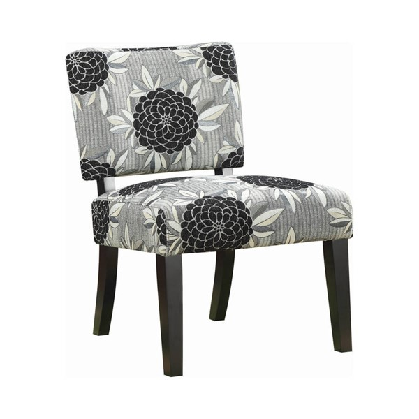 Coaster Furniture White Grey Black Fabric Cushion Back Chair CST-902050