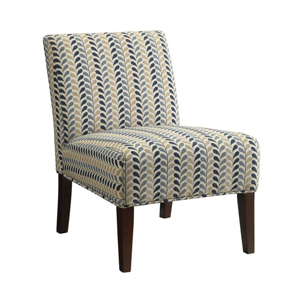 Coaster Furniture Blue Beige Fabric Accent Chair CST-902059