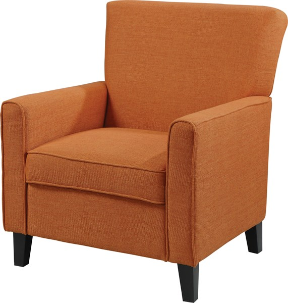 Orange Wood Fabric Cushion Back Accent Chair CST-902094