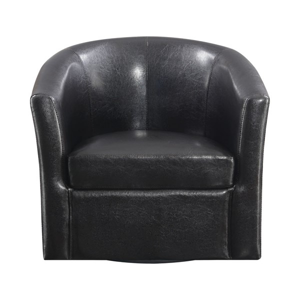 Coaster Furniture Dark Brown Faux Leather Swivel Accent Chair CST-902098