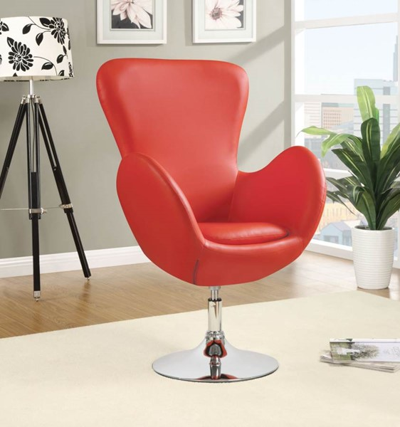 Contemporary Red Metal Fabric Swivel Chair CST-902101