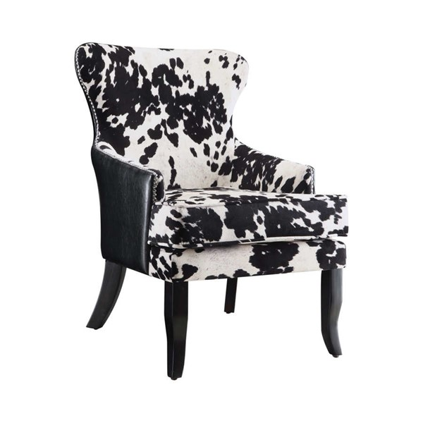 Coaster Furniture Black White Faux Leather Accent Chair CST-902169