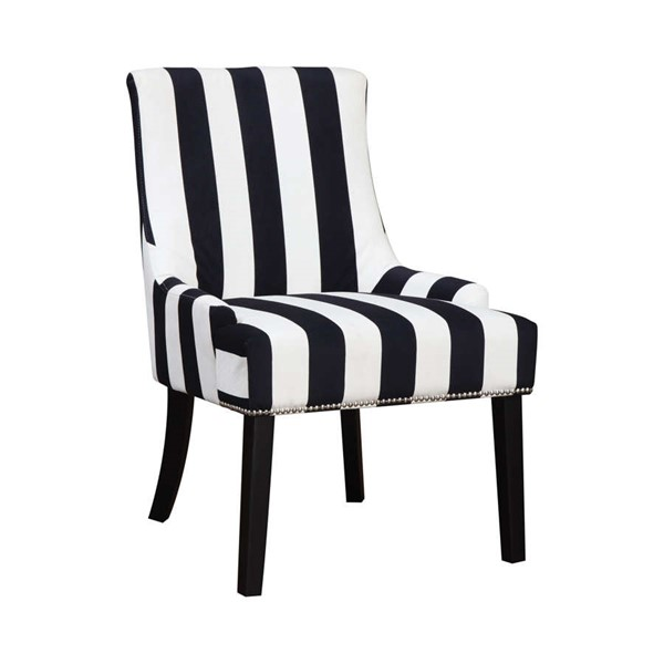 Coaster Furniture Navy White Fabric Nailhead Accent Chair CST-902188